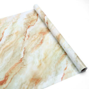 Marble Self Adhesive Wall Stickers Kitchen Cabinet Wrap Oil-proof Waterproof 16'