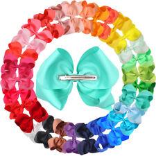 "30 Colors 6"" Baby Girls Big Hair Bows Clip Glitter Cheer Bow Alligator Hair Clip"
