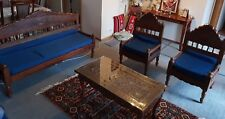 Sofa Set and Table (Rosewood, Hand Carved)