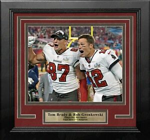 Tom Brady & Rob Gronkowski Super Bowl LV Tampa Bay Buccaneers 8x10 Framed Photo