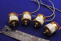 20,000 RPM SET OF NEW GLOBE 4 HI-SPEED MIL 26.5VDC COMPACT MOTORS SPEC