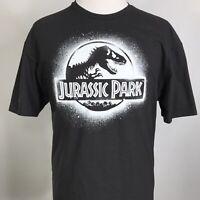 Jurassic Park Mens SHORT SLEEVE BLACK T-Rex Dinosaur Movie Graphic T Shirt 2XL