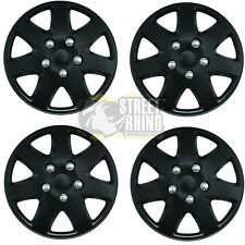 "Fiat Seicento 15"" Stylish Black Tempest Wheel Cover Hub Caps x4"
