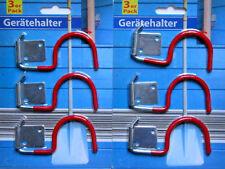 6 x Gerätehalter Haken Wandhaken Haken für Werkzeug  Gartengeräte Stielhalter