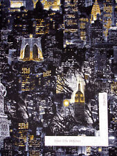 Cityscapes New York City Liberty Scenic Cotton Fabric Kanvas Studio By The Yard
