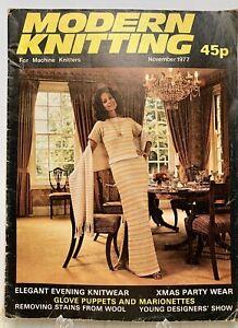 Modern Knitting Magazine: For Machine Knitters, November 1977