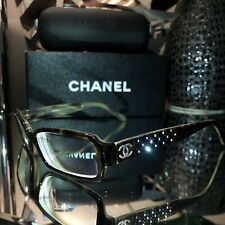 Chanel Eyeglasses Swarovski Crystal Quilted Frames 3093-B SOLD OUT! RARE!