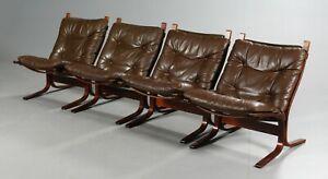 VINTAGE DANISH MID CENTURY LEATHER  SEISTA CHAIRS by INGMAR RELLING (1)