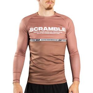 Scramble BJJ Ranked Long Sleeve Rashguard - Brown