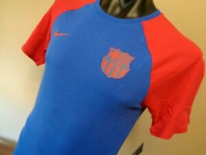 NIKE FC BARCELONA SUPPORTERS SHIRT BLUE MENS LARGE BRAND NEW