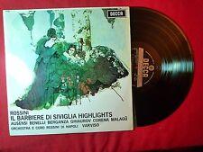 ROSSINI El Barbero De Sevilla 1968  LP SPAIN DECCA (EX-/EX-) F
