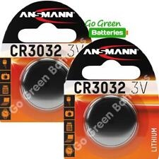 2 x Ansmann CR3032 3V Lithium Coin Cell Battery 3032, DL3032, BR3032, ECR3032
