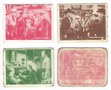 New listing 1950 Topps Hopalong Cassidy lot 4 different cards #s 61, 66, 79 and 81