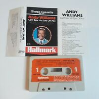 ANDY WILLIAMS CAN'T TAKE MY EYES OFF YOU CASSETTE TAPE 1968 PAPER LABEL HALLMARK