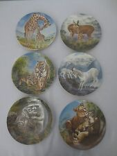 6 Signs of Love Knowles collector plates Deer Lion Tiger Raccoon Goat Giraffe