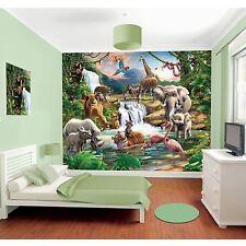 WALLTASTIC JUNGLE ADVENTURE WALL MURAL 2.44m x 3.05m NEW ANIMALS ROOM DECOR