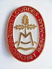 Insigne Religieux Badge Catholique ALLEMAGNE LOURDES RHEIN MAAS ORIGINAL