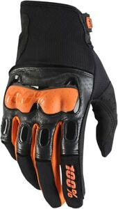 100% Men's Derestricted Gloves S Black/Orange 10007-054-10