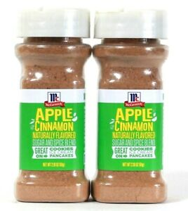 2 Count McCormick 2.18 Oz Apple Cinnamon Naturally Flavored Sugar & Spice Blend
