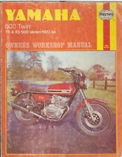 YAMAHA TX500 , TX500A , XS500 , XS500B & XS500C (1973-76) OWNERS WORKSHOP MANUAL