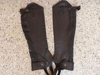 Rako weiches Leder( m. Struktur) Chaps, schwarz, Leder, Gr. M H 42 W 32,6 (14)