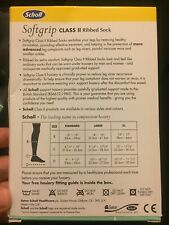 Scholl Softgrip Class II Medium Support Ribbed Socks Black Large1.3