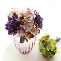 7 Pcs Artificial Flowers Orchid Silk Flower Wedding Bouquet Home Art Party Decor