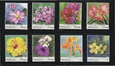 MALAYSIA 2010 GARDEN FLOWERS (HIGH VALUE) COMP. SET OF 8 STAMPS IN MINT MNH