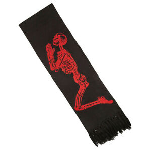 Mens Religion Lisha Intarsia Knitted Black Scarf (REAC1) RRP £29.99