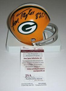 PACKERS Jim Taylor signed mini helmet w/ 8207 Yards JSA COA AUTO Autographed