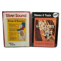 Lot of 2 Vintage 8 Track Tapes Kings Of Kountry Top Country Hits Various Artists