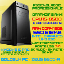 COMPUTER ASSEMBLATO PC DESKTOP INTEL Core i5-8500 RAM 16GB SSD512GB VIDEO 4K