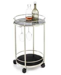 Hotel Collection Round Bar Cart Retails for $400