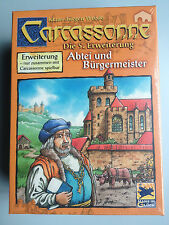 Carcassonne Expansion - Abbey & Mayor, Brand New with English Rules
