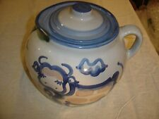 "M. A. Hadley 9"" Wide Covered Cookie Jar, or Bean Pot w/ Cow and a Pig  8491"