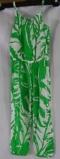 Girls Lilly Pulitzer Target Boom Boom Jumpsuit Romper Tropical Green Size 4T NWT