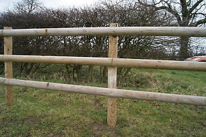 Fencing Rail 3.6m Half Round Fencing Beams Wooden Timber 100mm Dia Treated Wood
