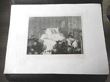 EDOUARD OBERLIN Gravure originale Anatole France IN MEMORIAM 1925 COLMAR 45 Ex.