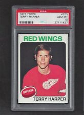 1975 Topps #255 Terry Harper PSA 10 GEM MT Vintage Detroit Red Wings NHL 1975-76