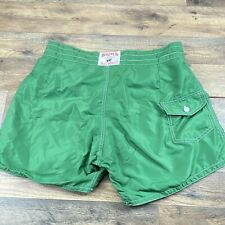 New listing Birdwell Beach Britches Men's size 32 Board Swim Shorts USA Made in lime green