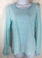 Koi Portia Long Sleeve Underscrub T Shirt Womens Small, S Cool Blue Floral