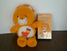 "Care Bears Cousins Brave Heart Lion Orange Plush Stuffed Animal 2004 w/Vhs 13.5"""