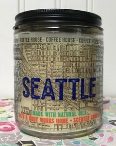 NEW BATH & BODY WORKS SEATTLE COFFEE HOUSE SCENTED CANDLE 4 OZ