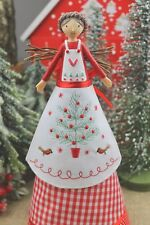 GISELA GRAHAM CHRISTMAS NORDIC YULE TREE TOP ANGEL FAIRY ORNAMENT LARGE