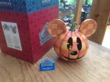 "v v rare disney tradition 'halloween pumpkin mickey lantern' 6"" boxed"