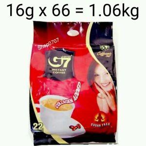 66 x16g Vietnam Trung Nguyen G7 Instant Coffee 3 in 1 COLLAGEN ADDED SUGAR FREE