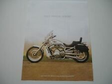 2003 HARLEY DAVIDSON 100TH GOLD KEY V ROD VRSC CUSTOM OEM BROCHURE SPEC SHEET