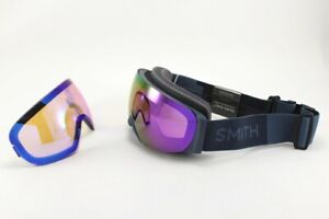 Smith I/O Mag S Ski /Snow Goggles French Navy, Everyday Violet Mirror +Bonus New