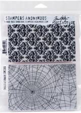 Stampers Anonymous Tim Holtz Cling Stamp Set ~ SKULLS & COBWEBS ~ CMS306