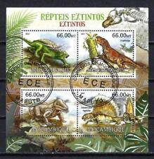 Animaux Préhistoriques Mozambique (45) série complète 4 timbres oblitérés